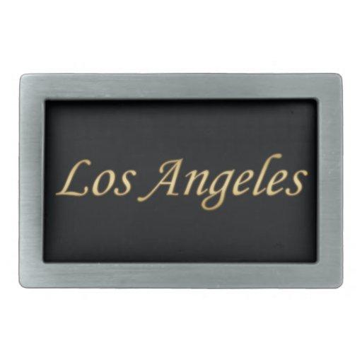 Oro de Los Ángeles - en negro Hebillas Cinturon Rectangulares