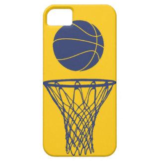 oro de los marcapasos de la silueta del baloncesto iPhone 5 Case-Mate carcasa