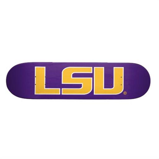Oro de LSU y logotipo blanco Monopatín