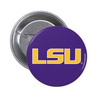 Oro de LSU y logotipo blanco Pin Redondo 5 Cm