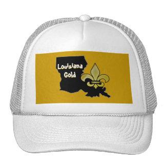 Oro de Luisiana Gorras De Camionero