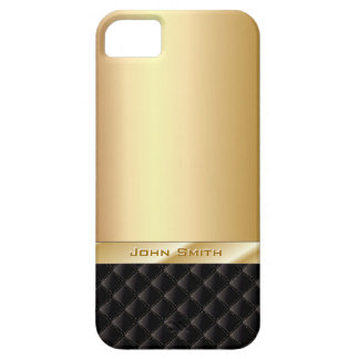 Oro de lujo con el caso conocido de encargo del funda para iPhone 5 barely there