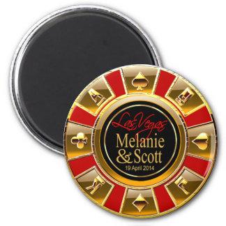 Oro de lujo de Las Vegas y favor rojo del micropro Imán