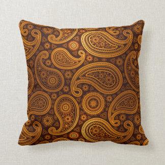 Oro de lujo de Paisley el | Cojín Decorativo