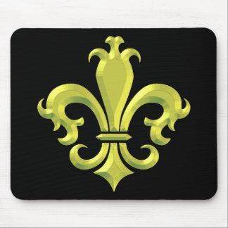 Oro de lujo New Orleans de la flor de lis Alfombrillas De Ratón