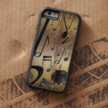 Oro de lujo y notas negras de la música funda de iPhone 6 tough xtreme
