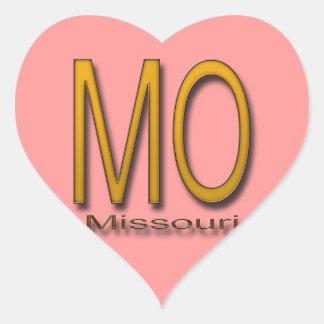 Oro de Missouri Pegatina En Forma De Corazón
