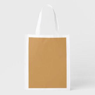 Oro de moda del fondo el   del color sólido bolsas reutilizables