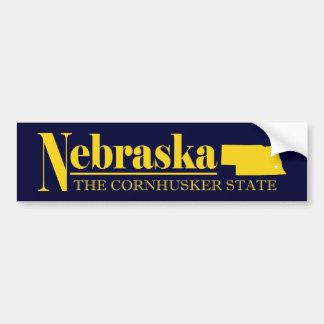 Oro de Nebraska Pegatina Para Auto