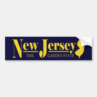 Oro de New Jersey Pegatina Para Auto