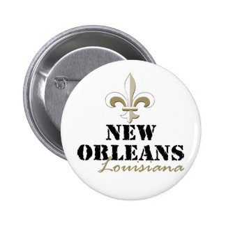 Oro de New Orleans Luisiana Pin Redondo 5 Cm