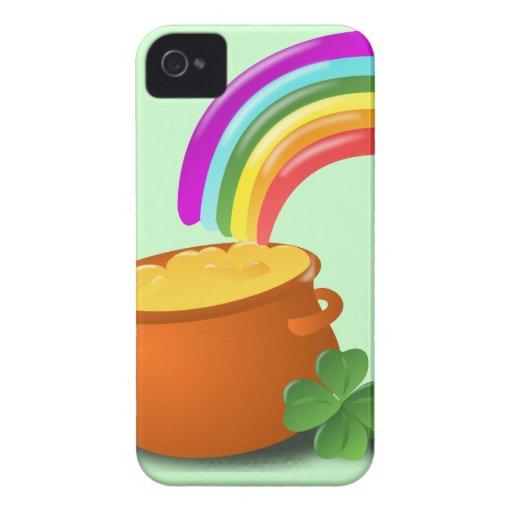 Oro de O del pote iPhone 4 Case-Mate Protector