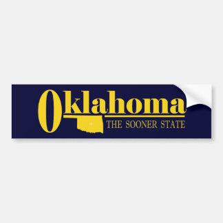 Oro de Oklahoma Pegatina De Parachoque