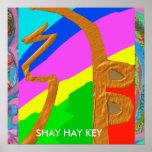Oro de SHAYHAYKEY - símbolo básico de Reiki Impresiones