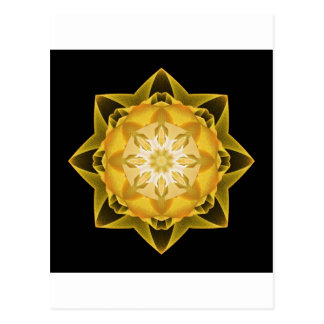 Oro de Stardust del fractal Postales