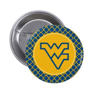 Oro de WV y esquema azul Pin Redondo 5 Cm