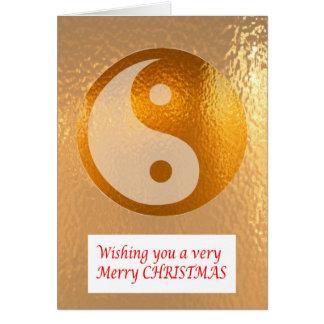 ORO DE YIN YANG:   Felices Navidad NewYear feliz Tarjeta De Felicitación