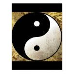 Oro de Yin Yang Postales