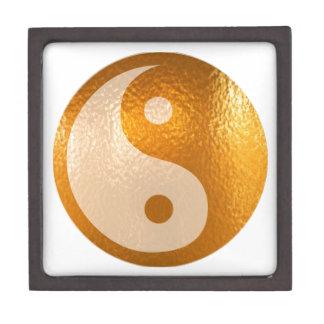Oro de YinYANG - balanza de Yin Yang Caja De Regalo De Calidad