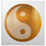 Oro de YinYANG - balanza de Yin Yang Servilleta Imprimida