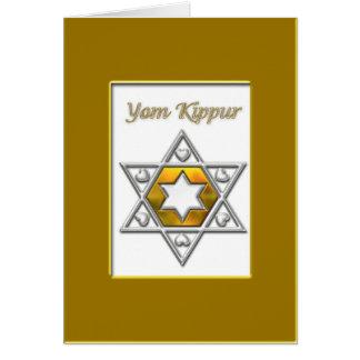 Oro de Yom Kipur Tarjeta