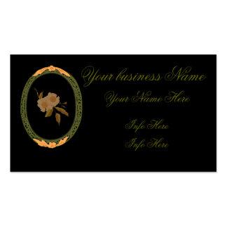 Oro decorativo y marco verde tarjetas de visita