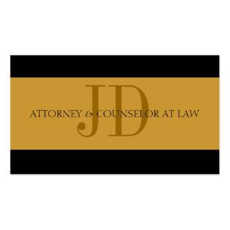 Oro del abogado/oro - papel con membrete tarjetas de visita