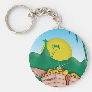 Oro del Amazonas Llavero Redondo Tipo Pin