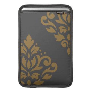 Oro del arte I del damasco de la voluta en gris Fundas Para Macbook Air