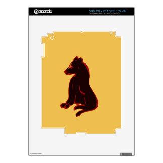 oro del arte moderno del extracto del animal pegatina skin para iPad 3