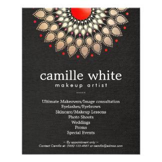 Oro del artista de maquillaje y mirada de lino del tarjetas publicitarias