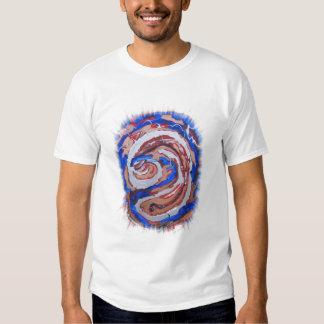 oro del azul del diseño del arte abstracto poleras