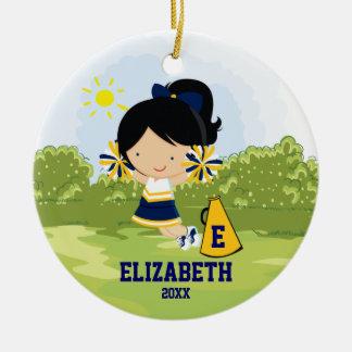 Oro del azul del ornamento del navidad del chica d adorno