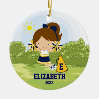 Oro del azul del ornamento del navidad del chica d adorno de reyes