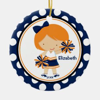 Oro del azul del ornamento del navidad del chica d adorno para reyes