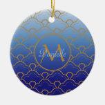 Oro del azul real de Gradated de la concha de pere Ornato