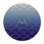 Oro del azul real de Gradated de la concha de pere Fichas De Póquer