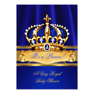 """Oro del azul real de la fiesta de bienvenida al invitación 4.5"""" x 6.25"""""""