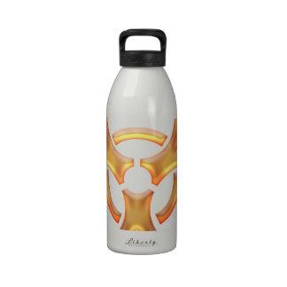Oro del Biohazard Botella De Agua