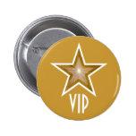 """Oro del botón"""" de la estrella """"VIP"""" del """"oro Pins"""