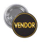 Oro del botón del vendedor en negro pins