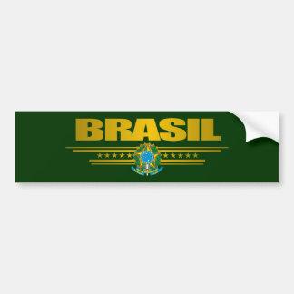 """""""Oro del Brasil """" Etiqueta De Parachoque"""