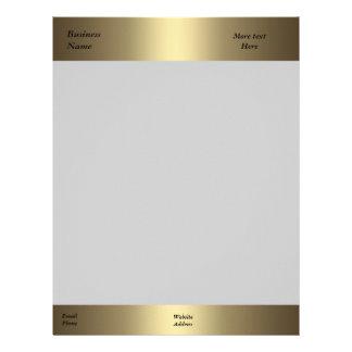 Oro del bronce de la oficina de la empresa de nego membrete