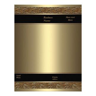 Oro del bronce del metal de Brown del negocio del  Membrete A Diseño