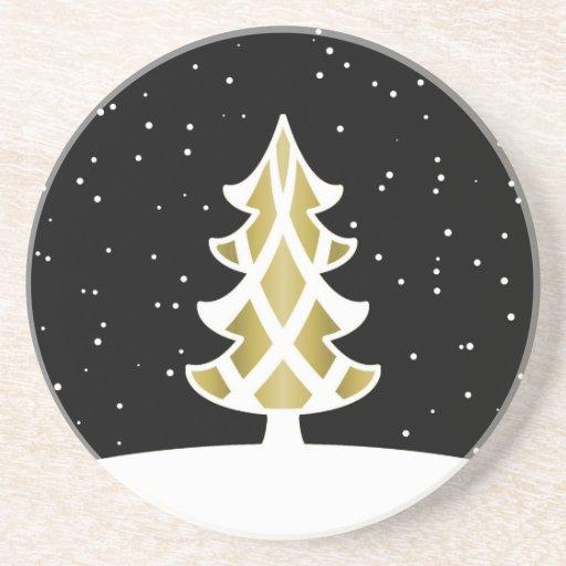 Oro del cielo Nevado de las cintas del árbol de na Posavasos Manualidades