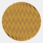 oro del cirlcle etiquetas redondas