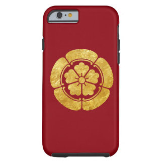 Oro del clan japonés del samurai del Oda lunes Funda De iPhone 6 Tough