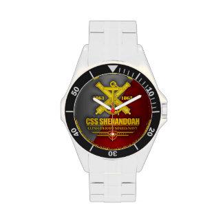 Oro del CSS Shenandoah (emblema de la marina de gu Relojes De Pulsera