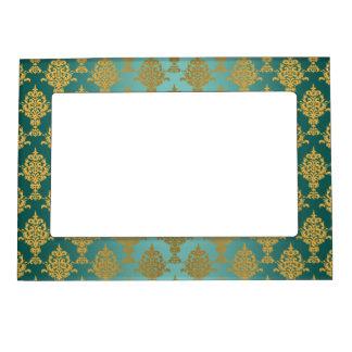 Oro del damasco en trullo marcos magneticos de fotos
