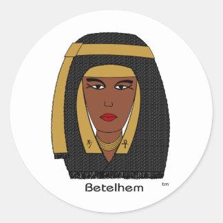 Oro del ~ de Betelhem Pegatina Redonda